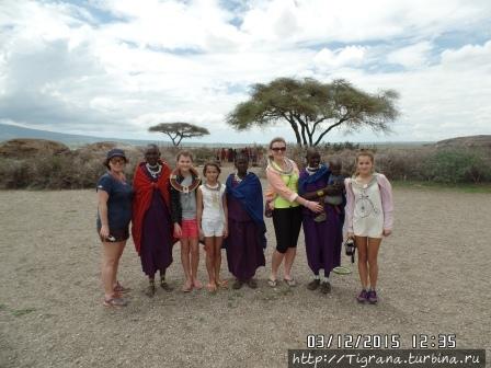 с масаями